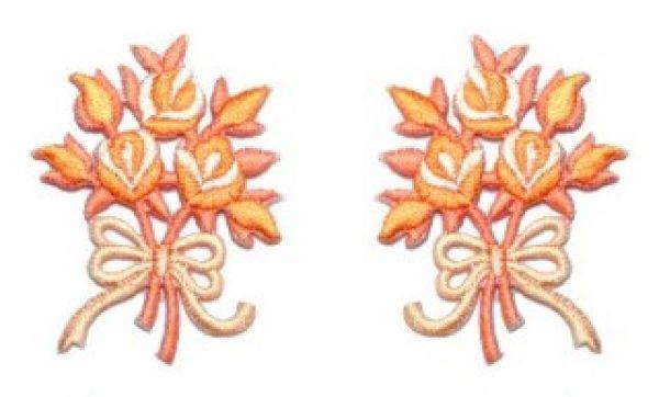 1 Paar Applikationen Rosenstrauß AA340-27