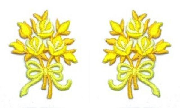 1 Paar Applikationen Rosenstrauß AA340-28