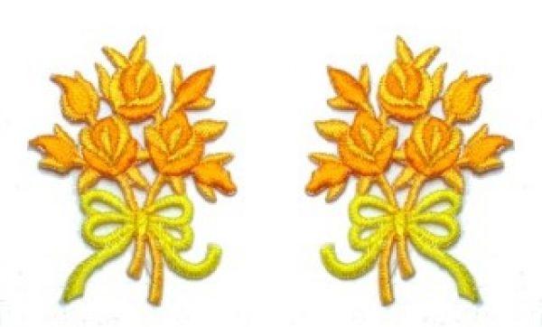 1 Paar Applikationen Rosenstrauß AA340-29