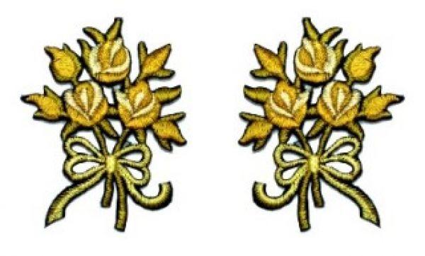 1 Paar Applikationen Rosenstrauß AA340-31