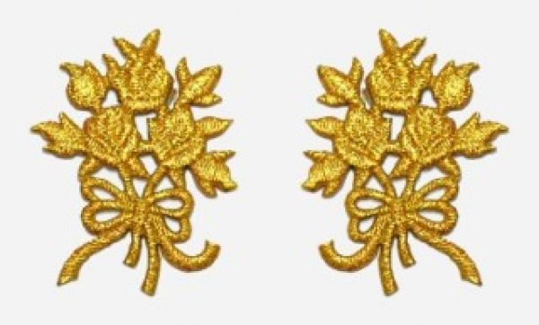 1 Paar Applikationen Rosenstrauß AA340-32