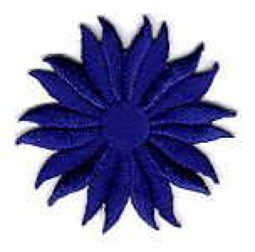 Margeriten-Applikationen Durchmesser 5cm AA106-03 Royalblau
