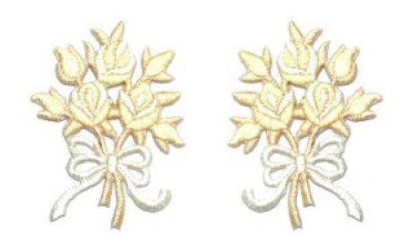 1 Paar Applikationen Rosenstrauß AA340-34
