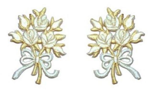 1 Paar Applikationen Rosenstrauß AA340-35