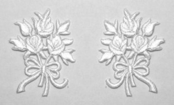 1 Paar Applikationen Rosenstrauß AA340-37
