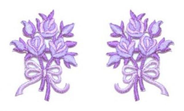 1 Paar Applikationen Rosenstrauß AA340-44