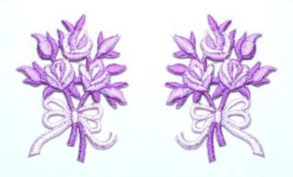 1 Paar Applikationen Rosenstrauß AA340-45