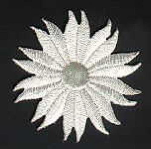 Margeriten-Applikationen Durchmesser 5cm AA106-07 Farbe: Lurex-Silber
