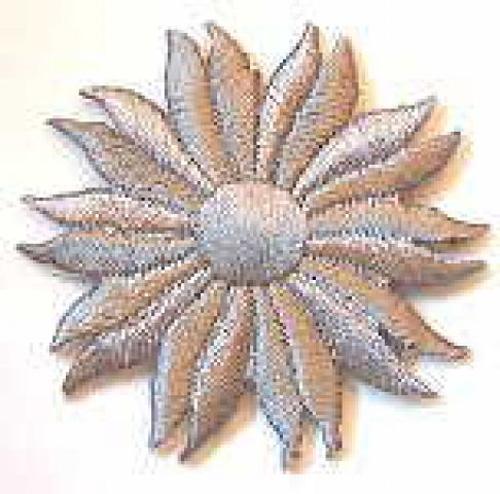 Margeriten-Applikationen Durchmesser 5cm AA106-10 Farbe: Grau