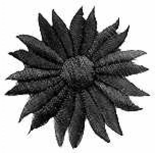 Margeriten-Applikationen Durchmesser 5cm AA106-11 Farbe: Schwarz