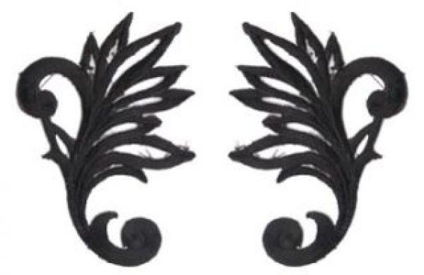 1 Paar historische Applikationen AF40-1 Farbe: schwarz