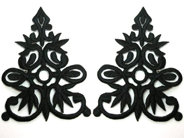 1 Paar Applikationen 9,5 x 7cm höhere Qualität Farbe: schwarz