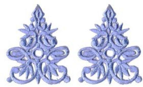 1 Paar historische Applikationen Farbe: Royalblau