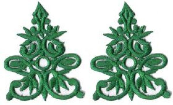 1 Paar historische Applikationen AF41-5 Farbe: Grün