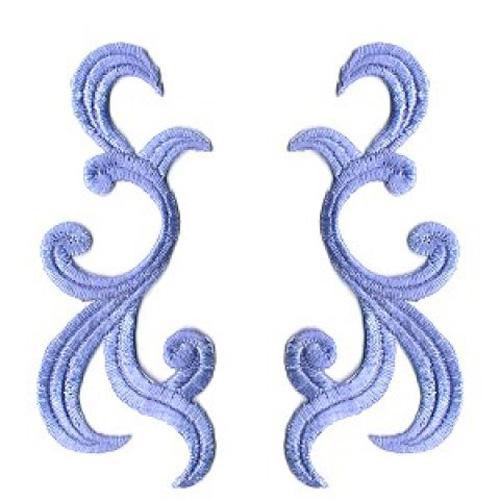 1 Paar historische Applikationen AF42-4 Farbe: Blau