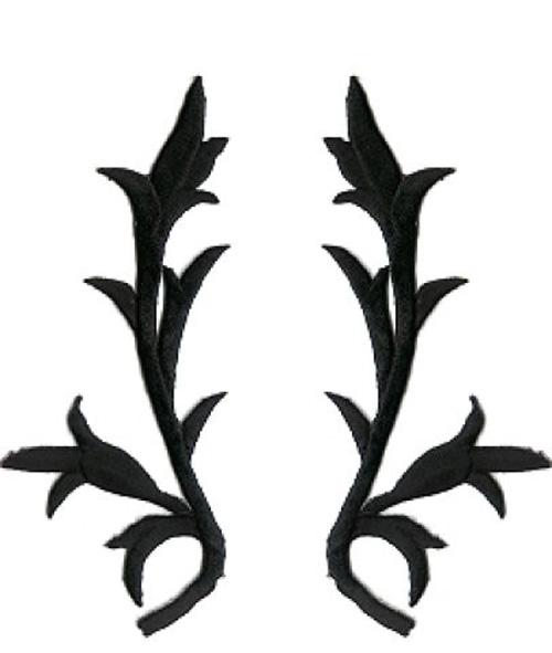 1 Paar historische Applikationen AF43-1 Farbe: schwarz