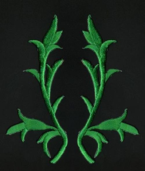 1 Paar historische Applikationen AF43-5 Farbe: grün