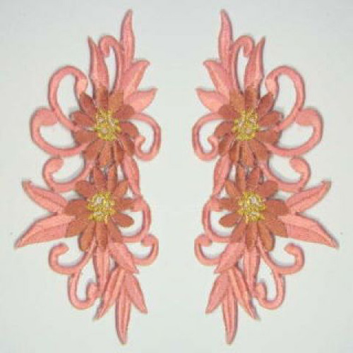 1 Paar Blumenapplikationen AF73-11