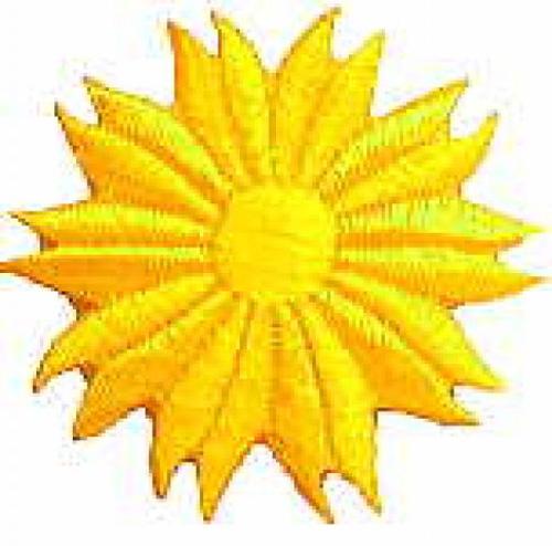 Margeriten-Applikationen Durchmesser 5cm AA106-20 Farbe: Gelb