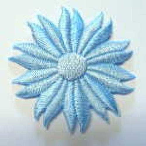 Margeriten-Applikationen Durchmesser 5cm AA106-21 Farbe: Hellblau