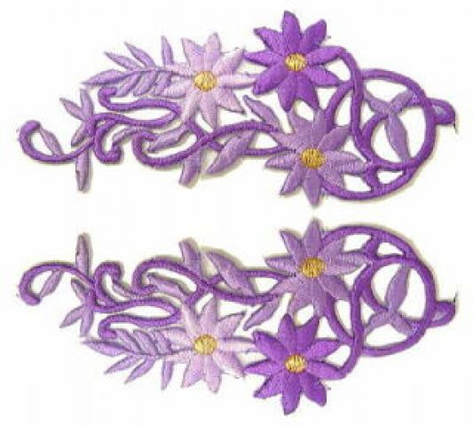 1 Paar Blumenapplikationen AF75-18