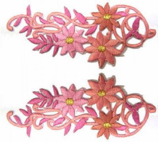 1 Paar Blumenapplikationen AF75-19