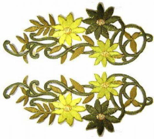 1 Paar Blumenapplikationen AF75-20