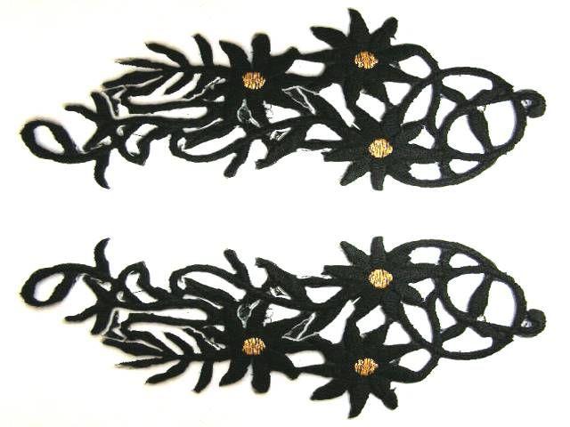 1 Paar Blumenapplikationen AF75-23