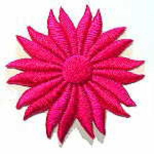 Margeriten-Applikationen Durchmesser 5cm AA106-23 Farbe: Fuchsia