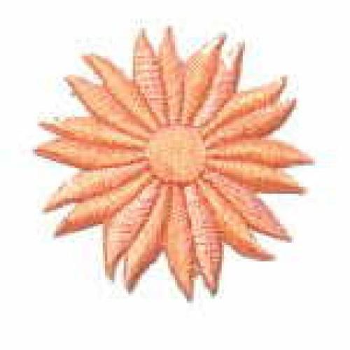 Margeriten-Applikationen Durchmesser 5cm AA106-26 Farbe: Lachs
