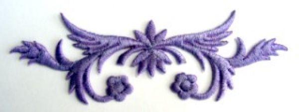 historische Applikation Sticker Patch Tribal Farbe: Violett