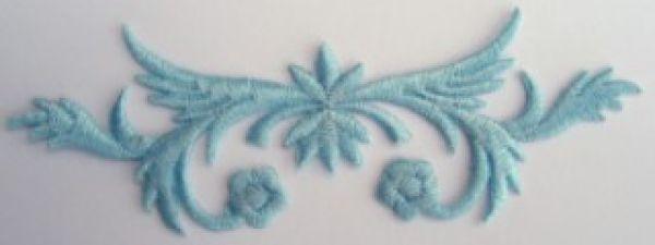 historische Applikation Sticker Patch Tribal Farbe: Hellblau