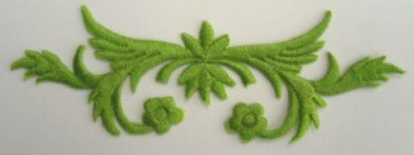 historische Applikation Sticker Patch Tribal Farbe: Laubgrün
