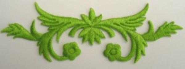 historische Applikation Sticker Patch Tribal Farbe: Grasgrün