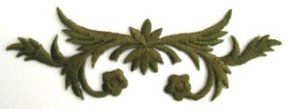 historische Applikation Sticker Patch Tribal Farbe: Zedergrün