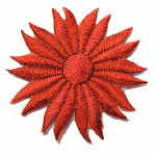 Margeriten-Applikationen Durchmesser 5cm AA106-28 Farbe: Kamin