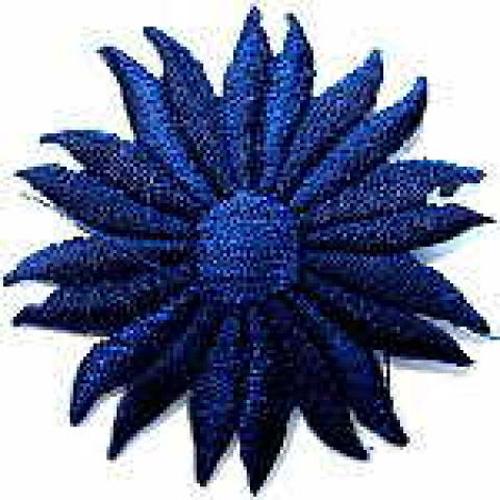 Margeriten-Applikationen Durchmesser 5cm AA106-29 Farbe: Delfter Blau