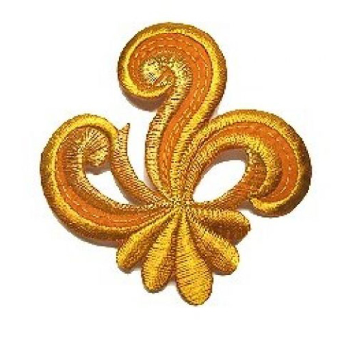 Applikation Sticker Patch Tribal 7,7 x 7,7cm Farbe: Gold