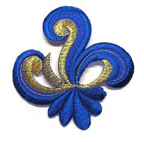 Applikation Sticker Patch Tribal 7,7 x 7,7cm Farbe: Royalblau