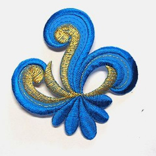 Applikation Sticker Patch Tribal 7,7 x 7,7cm Farbe: Blau
