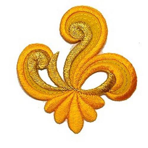 Applikation Sticker Patch Tribal 7,7 x 7,7cm Farbe: Orange