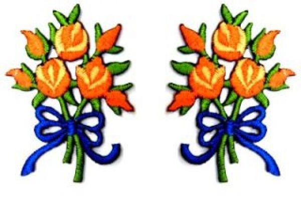 1 Paar Applikationen Rosenstrauß RU05-06
