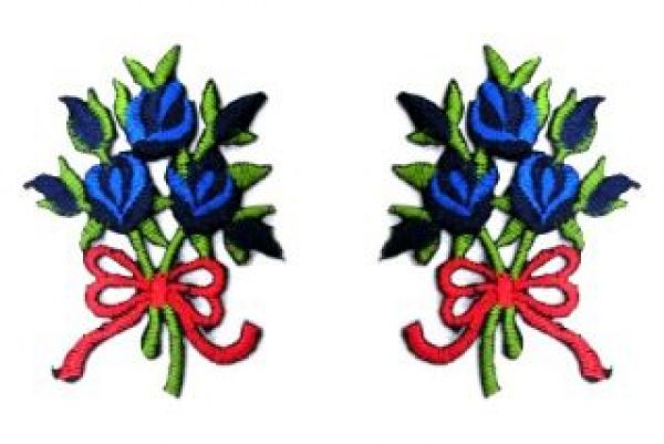 1 Paar Applikationen Rosenstrauß RU05-10