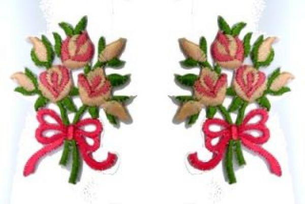 1 Paar Applikationen Rosenstrauß RU05-11