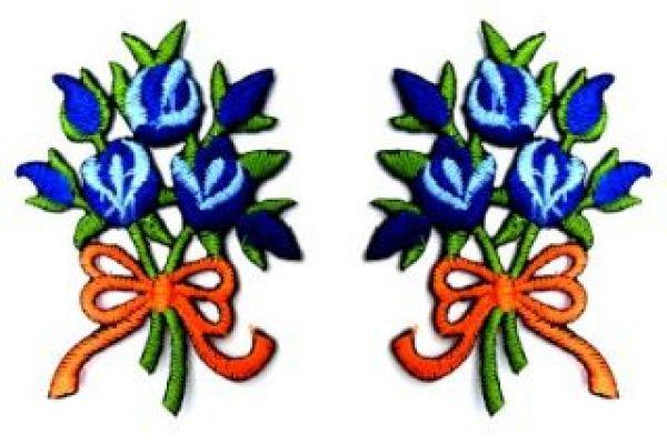 1 Paar Applikationen Rosenstrauß RU05-14