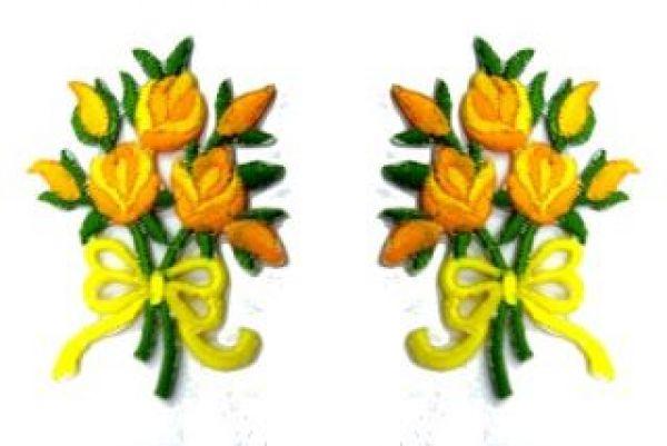 1 Paar Applikationen Rosenstrauß RU05-16