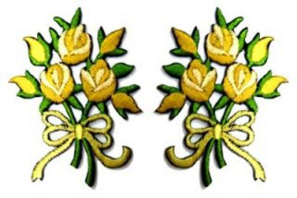 1 Paar Applikationen Rosenstrauß RU05-18