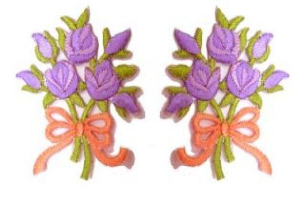1 Paar Applikationen Rosenstrauß RU05-19