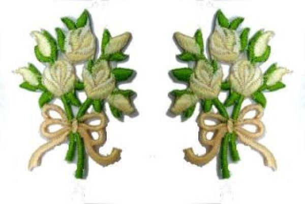 1 Paar Applikationen Rosenstrauß RU05-20