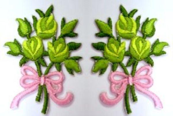 1 Paar Applikationen Rosenstrauß RU05-23